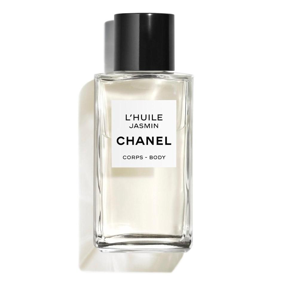 """Chanel. Body. Oil. Need I say more? Seriously, this floral oil smells amazing—like lush, summery fields full of jasmine—and looks luxe as hell on your bathroom shelf. At $230, it's certainly an indulgence, but think of it this way: You're basically getting a luxury perfume too. $230, Chanel. <a href=""""https://www.chanel.com/us/skincare/p/102020/lhuile-jasmin-body-massage-oil/"""" rel=""""nofollow noopener"""" target=""""_blank"""" data-ylk=""""slk:Get it now!"""" class=""""link rapid-noclick-resp"""">Get it now!</a>"""