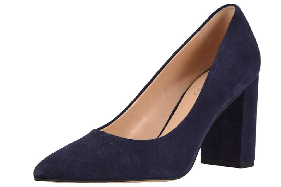 navy pumps, pumps, heels, franco sarto
