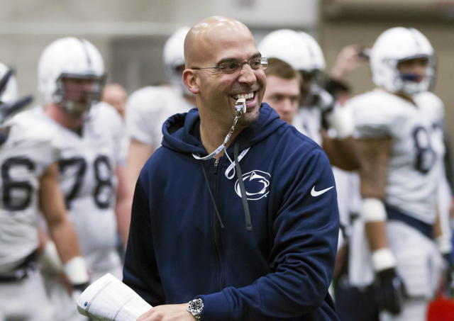 Random offseason tweet of the day: James Franklin unleashes his inner (Nittany) lion
