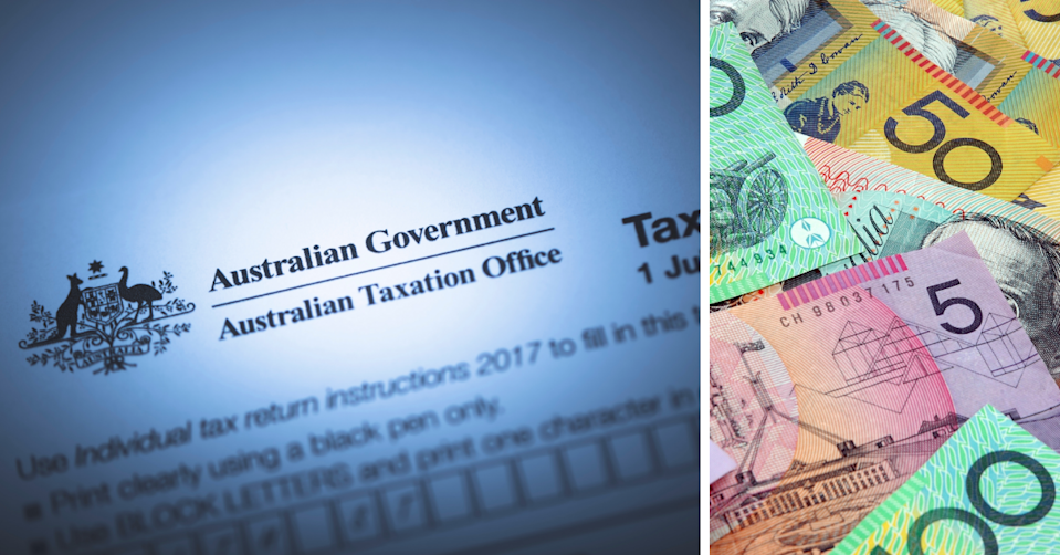 The ATO tax documents and Australian money