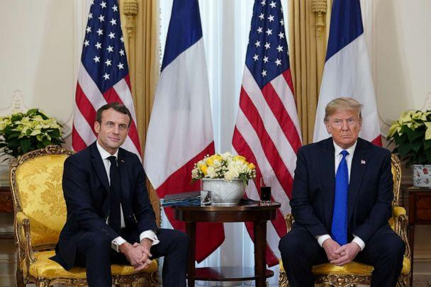 PHOTO: France's President Emmanuel Macron and President Donald Trump meet, ahead of the NATO summit in Watford, in London, Dec. 3, 2019. (Kevin Lamarque/Reuters, FILE)
