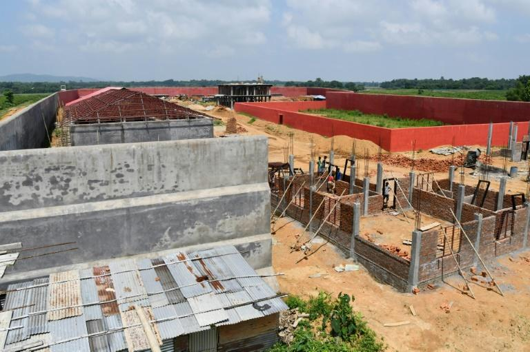 Detention centres are under construction for people who are not included in the National Register of Citizens in Assam (AFP Photo/Biju BORO)