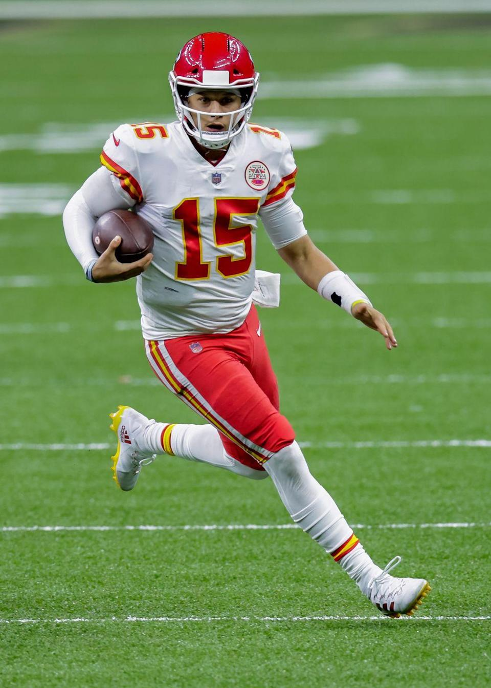 """<p>Numbers are <a href=""""https://www.battleredblog.com/2016/9/15/12924794/the-nfl-s-ridiculous-uniform-policy-illustrated"""" rel=""""nofollow noopener"""" target=""""_blank"""" data-ylk=""""slk:assigned based on a players' position"""" class=""""link rapid-noclick-resp"""">assigned based on a players' position</a>—unlike other sports, where players have the ability to choose what number they wear. For example, if you're the quarterback, you can only choose a number between 1-19. </p>"""