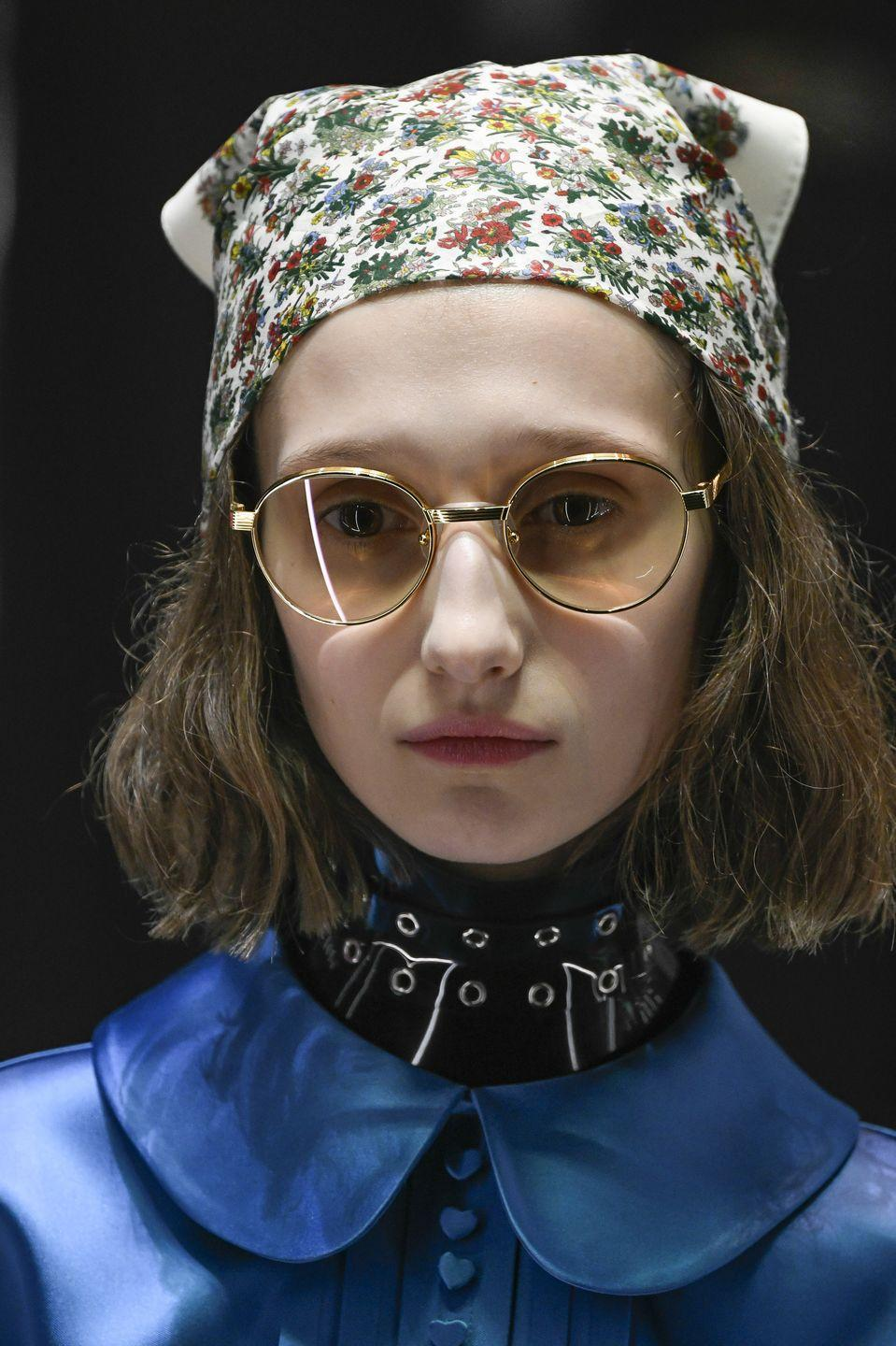 <p>Not into designer logos? At Gucci, ditsy floral prints added a quirky twist to the trend.</p>