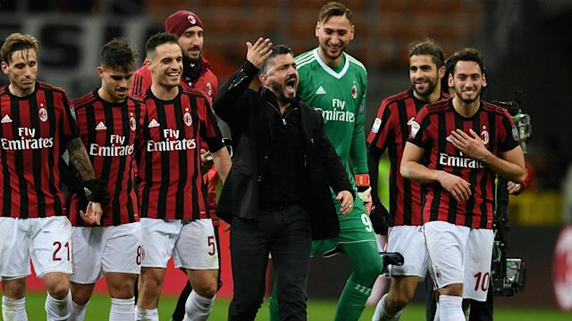 AC Milan head coach Gennaro Gattuso congratulated his resurgent team but stressed there is still work to be done.