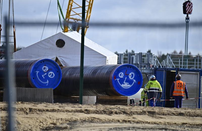The controversial 11-billion-euro Nord Stream 2 pipeline is set to double Russian gas shipments to Germany (AFP Photo/Tobias SCHWARZ)
