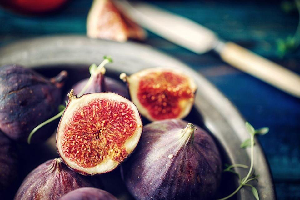 """<p>When you think of potassium-rich produce, figs probably don't come to mind, but you may be surprised to learn that six fresh figs have 891 milligrams of the blood pressure-lowering mineral, nearly 20 percent of your daily need—and about double what you'd find in one large banana. Figs are also one of the best fruit sources of calcium, with nearly as much per serving (six figs) as 1/2 cup of fat-free milk. Serve by chopping and adding to yogurt, cottage cheese, oatmeal, or green salads.</p><p><strong>Try it: </strong><a href=""""https://www.prevention.com/food-nutrition/recipes/a20509488/stuffed-figs/"""" rel=""""nofollow noopener"""" target=""""_blank"""" data-ylk=""""slk:Stuffed Figs"""" class=""""link rapid-noclick-resp"""">Stuffed Figs</a></p>"""