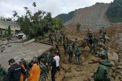 Missing in China landslide climbs to 32