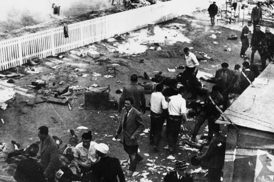 The wreckage at the racecourse the day after. Tracks are much safer nowKeystone/Getty