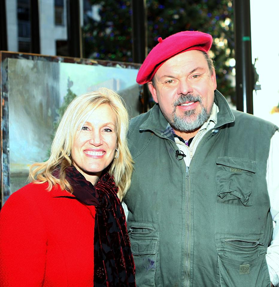 NEW YORK - NOVEMBER 30:  Artist Thomas Kinkade (R) and wife Nanette Kinkade (L) pose for a photos Rockefeller Center Christmas Tree November 30, 2007 in New York City.