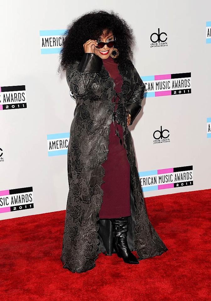 Singer Chaka Khan arrives at the 2011 American Music Awards held at the Nokia Theatre L.A. LIVE. (11/20/2011)