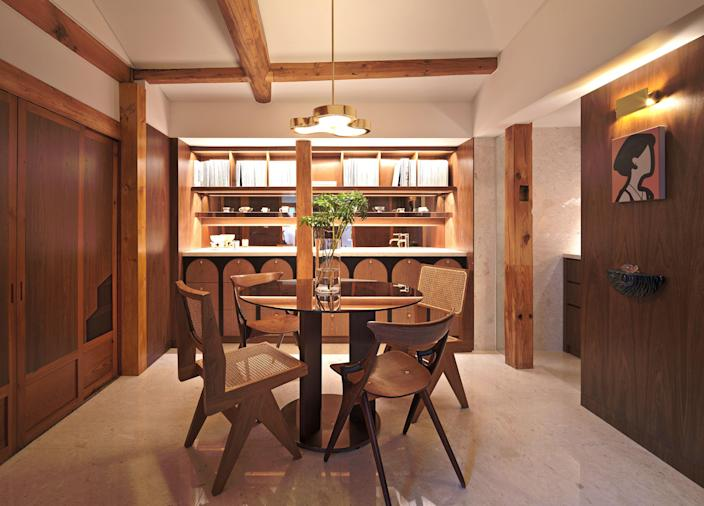 The dining area of designer Teo Yang's home.