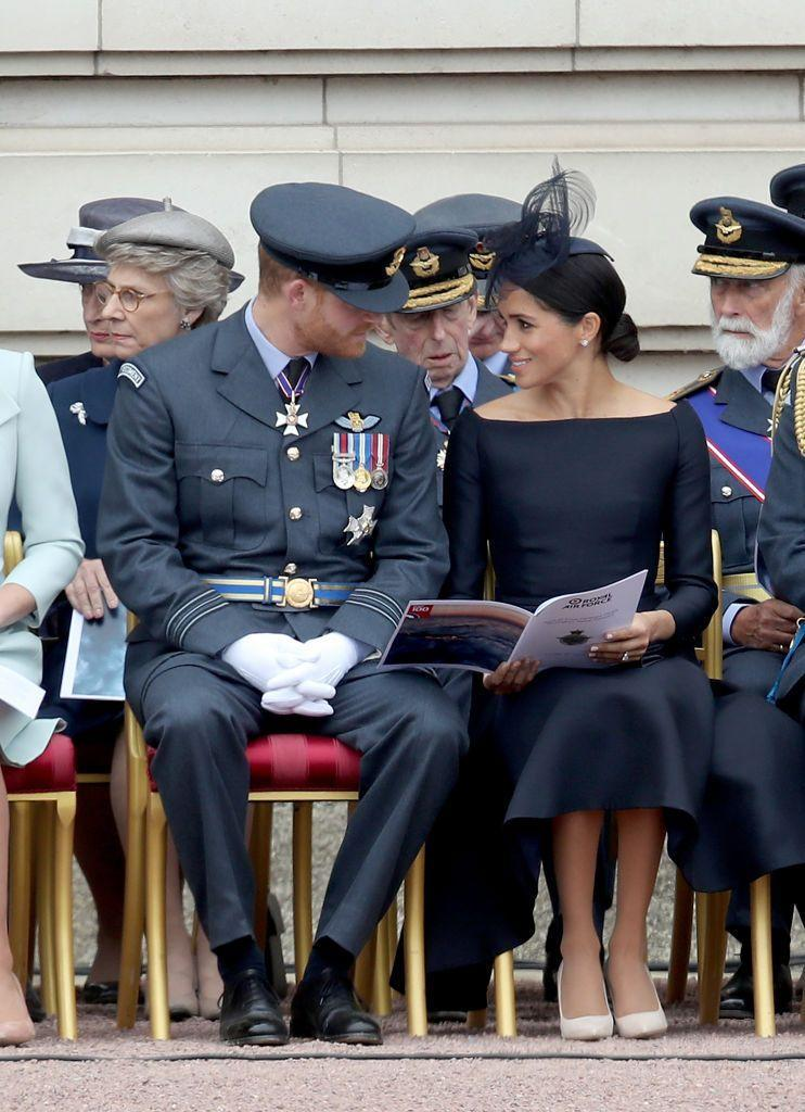 "<p>Harry and <a href=""https://www.townandcountrymag.com/style/fashion-trends/a22095663/meghan-markle-raf-100-anniversary/"" rel=""nofollow noopener"" target=""_blank"" data-ylk=""slk:Meghan attended a service at Westminster Abbey"" class=""link rapid-noclick-resp"">Meghan attended a service at Westminster Abbey</a>, and then watched a flypast <a href=""https://www.townandcountrymag.com/society/tradition/g22094794/raf-100-anniversary-celebrations-royal-family-photos/"" rel=""nofollow noopener"" target=""_blank"" data-ylk=""slk:from the Buckingham Palace balcony."" class=""link rapid-noclick-resp"">from the Buckingham Palace balcony.</a> Later that day, they traveled to Ireland for a two day trip.</p>"