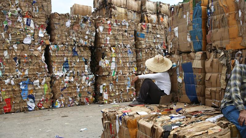 Hong Kong braces for cardboard pile-ups as recycling price falls in response to a major factory slashing payments and US-China trade war