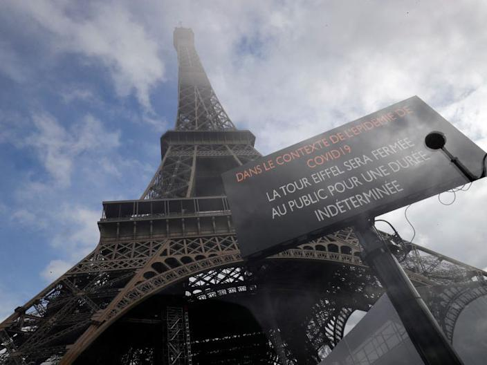 Eiffel Tower closed coronavirus