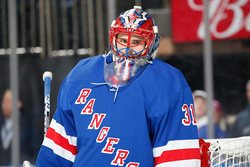 Igor Shesterkin #31 of the New York Rangers