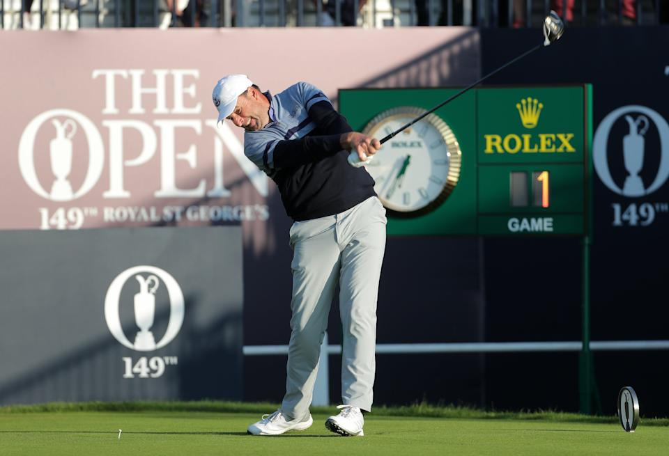 Richard Bland tees off at the Open (PA Wire)
