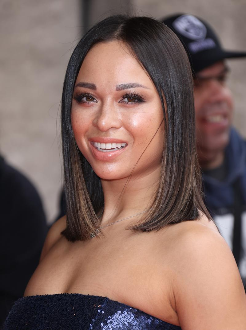 LONDON, ENGLAND - MARCH 10: Katya Jones attends the TRIC Awards 2020 at The Grosvenor House Hotel on March 10, 2020 in London, England. (Photo by Mike Marsland/WireImage)