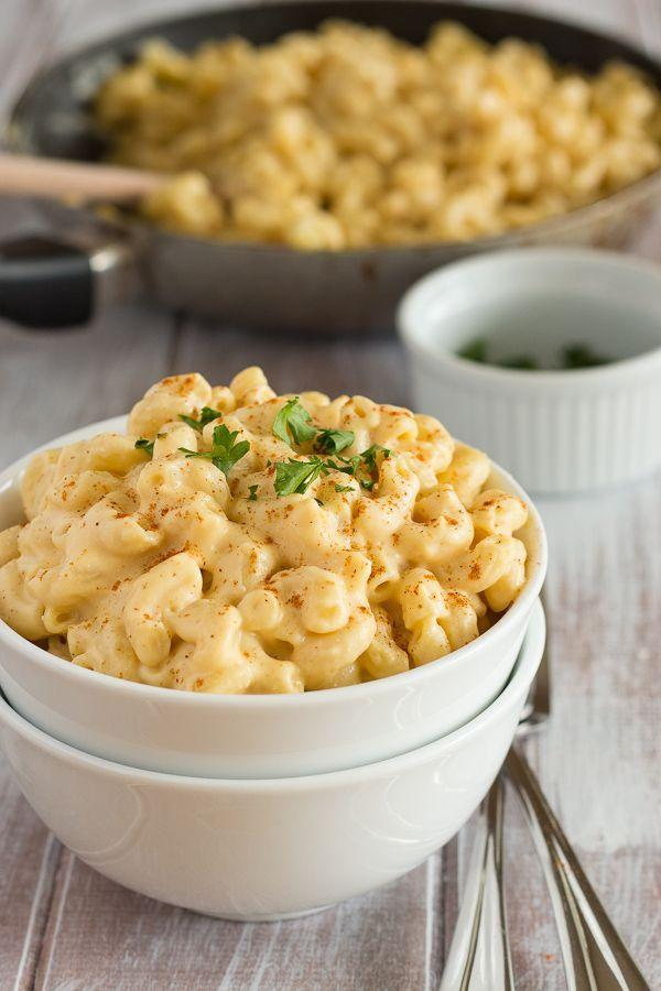 """<p>No need to give up a comfort food tradition. This veggie macaroni and cheese will do the trick!</p><p><strong>Get the recipe at <a href=""""http://veganyumminess.com/creamy-vegan-mac-and-cheese/"""" rel=""""nofollow noopener"""" target=""""_blank"""" data-ylk=""""slk:Vegan Yumminess"""" class=""""link rapid-noclick-resp"""">Vegan Yumminess</a>.</strong> </p>"""
