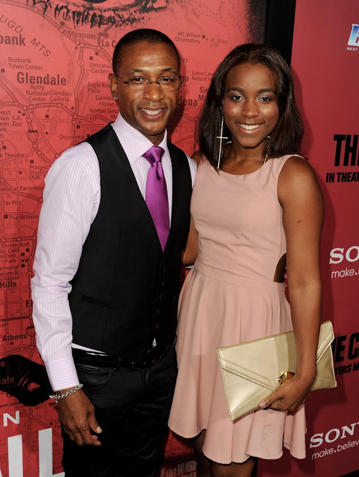 """LOS ANGELES, CA - MARCH 05:  Actor Tommy Davidson (L) and his daughter Jillian Davidson arrive at the premiere of Tri Star Pictures' """"The Call"""" at the Arclight Theatre on March 5, 2013 in Los Angeles, California.  (Photo by Kevin Winter/Getty Images)"""