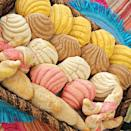 """<p><strong>Pink Elephant Bakery</strong></p><p>thepinkelephantbakery.com</p><p><strong>$22.80</strong></p><p><a href=""""https://thepinkelephantbakery.com/product/mini-pan-dulce/"""" rel=""""nofollow noopener"""" target=""""_blank"""" data-ylk=""""slk:BUY NOW"""" class=""""link rapid-noclick-resp"""">BUY NOW</a></p><p>Pan Dulce refers to a number of sweet bakery pastries in Latinx cultures. At Pink Elephant Bakery, these conchas (named for their shell-like appearance) are some of the most popular. On their website you must request these items two days in advance. </p>"""