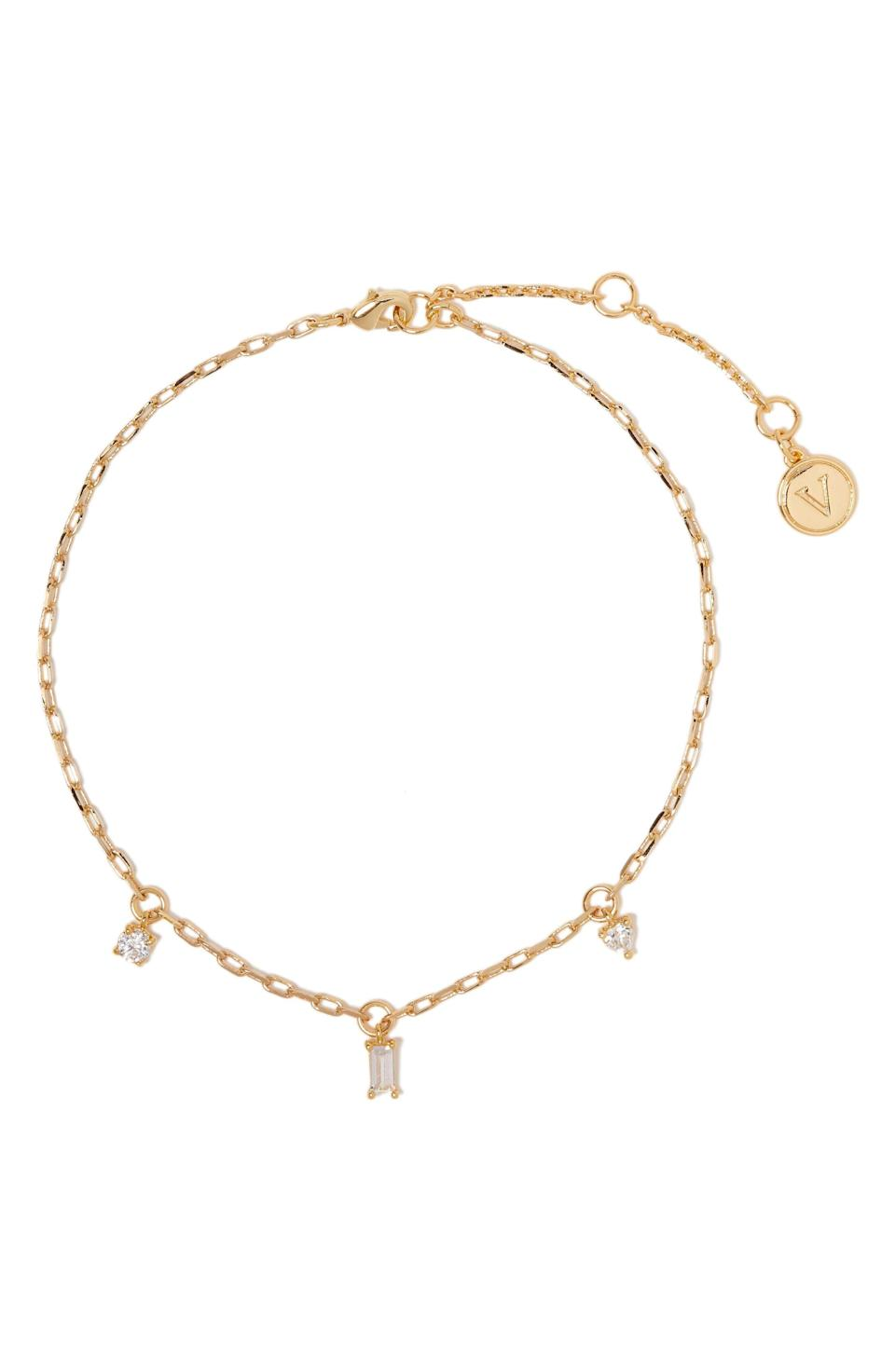 """<p><strong>VINCE CAMUTO</strong></p><p>nordstrom.com</p><p><strong>$16.80</strong></p><p><a href=""""https://go.redirectingat.com?id=74968X1596630&url=https%3A%2F%2Fwww.nordstrom.com%2Fs%2Fvince-camuto-cubic-zirconia-chain-anklet%2F5798541&sref=https%3A%2F%2Fwww.womenshealthmag.com%2Flife%2Fg36999215%2Fviral-tiktok-items-nordstrom-sale%2F"""" rel=""""nofollow noopener"""" target=""""_blank"""" data-ylk=""""slk:Shop Now"""" class=""""link rapid-noclick-resp"""">Shop Now</a></p><p>ICYMI: You can't have too much gold jewelry this season, and that includes the kind you'll wear on your feet. No, toe rings haven't made a comeback just yet, but these dainty little anklets are <em>everywhere</em>. </p><p>TikTok loves that these are an easy way to bling out everything from your simple black flats to sneaks.</p>"""