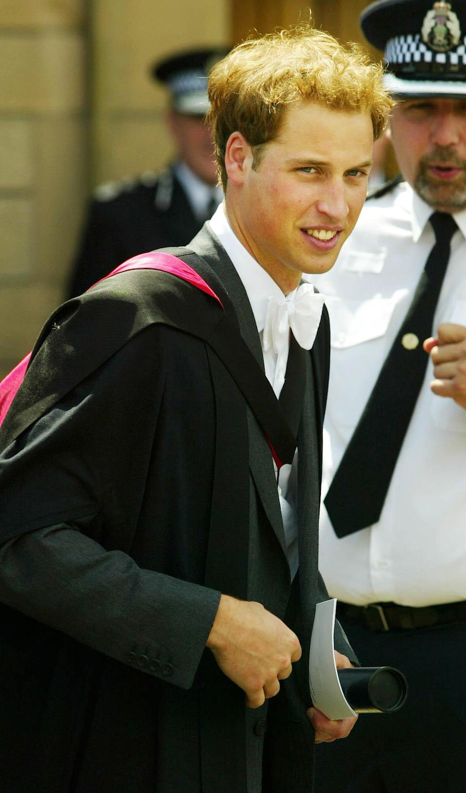 <p>Prince William got a 2:1 in geography after four years studying for his Master of Arts. (PA Images)</p>