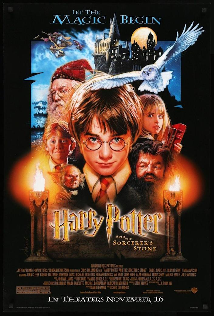 <p>It's hard to imagine a world without Harry Potter Weekend on TV. J.K. Rowling's debut, <em>Harry Potter and the Sorcerer's Stone</em>, the fantastical world she created hit the big screen on November 14, 2001 with unknowns Daniel Radcliffe and Emma Watson who were just 11 and 10 years-old at the time. After 8 movies in total, the tale of Harry and his friends attending Hogwarts for the first time as naive wizards will forever remain a classic. </p>