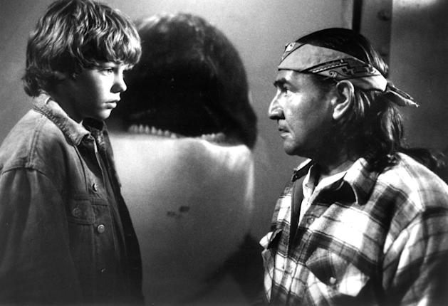Jason James Richter and August Schellenberg in 'Free Willy'
