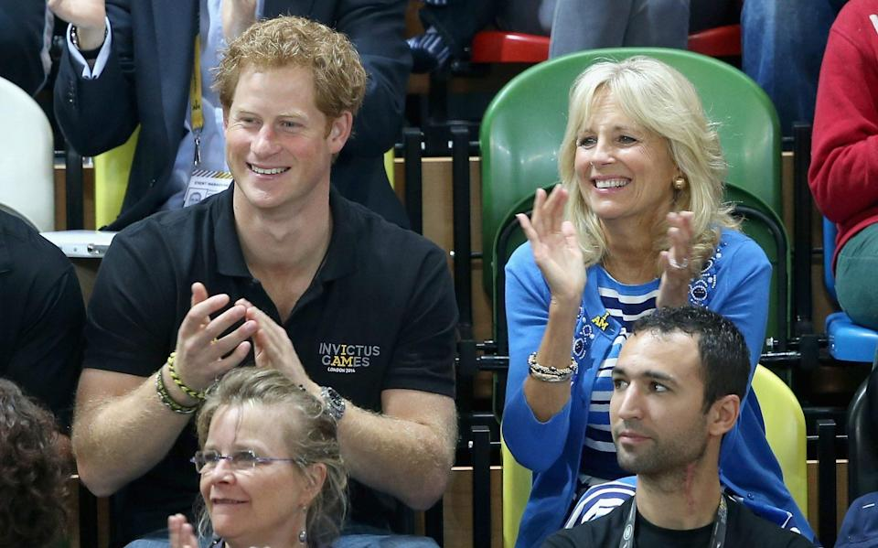 The Duke and Dr Biden at the Invictus Games in London in 2014 - GETTY IMAGES