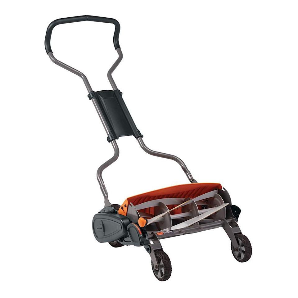"""<p><strong>Fiskars Staysharp Max Mower</strong></p><p>walmart.com</p><p><strong>$275.00</strong></p><p><a href=""""https://go.redirectingat.com?id=74968X1596630&url=https%3A%2F%2Fwww.walmart.com%2Fip%2F134571091&sref=https%3A%2F%2Fwww.countryliving.com%2Fgardening%2Fgarden-ideas%2Fg36558182%2Fbest-lawn-mowers%2F"""" rel=""""nofollow noopener"""" target=""""_blank"""" data-ylk=""""slk:Shop Now"""" class=""""link rapid-noclick-resp"""">Shop Now</a></p><p>I have a relatively small lawn, a large allergy to unnecessary energy consumption, and am happy to get a bit of a workout when doing yard work. (It kills two birds with one stone.) All of which means that I absolutely <em>love</em> this reel mower. The flywheel system keeps the blades spinning, so it cuts like a dream. It's height-adjustable so cutting grass around tree roots and uneven terrain is no problem. But the best part is that it has been completely maintenance-free for over five years! I haven't even had to sharpen it!</p>"""