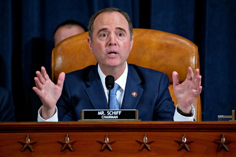 US House Intelligence Committee chairman Adam Schiff, who has presided over public impeachment hearings, has become a main target of President Donald Trump's ire (AFP Photo/Andrew Harrer)