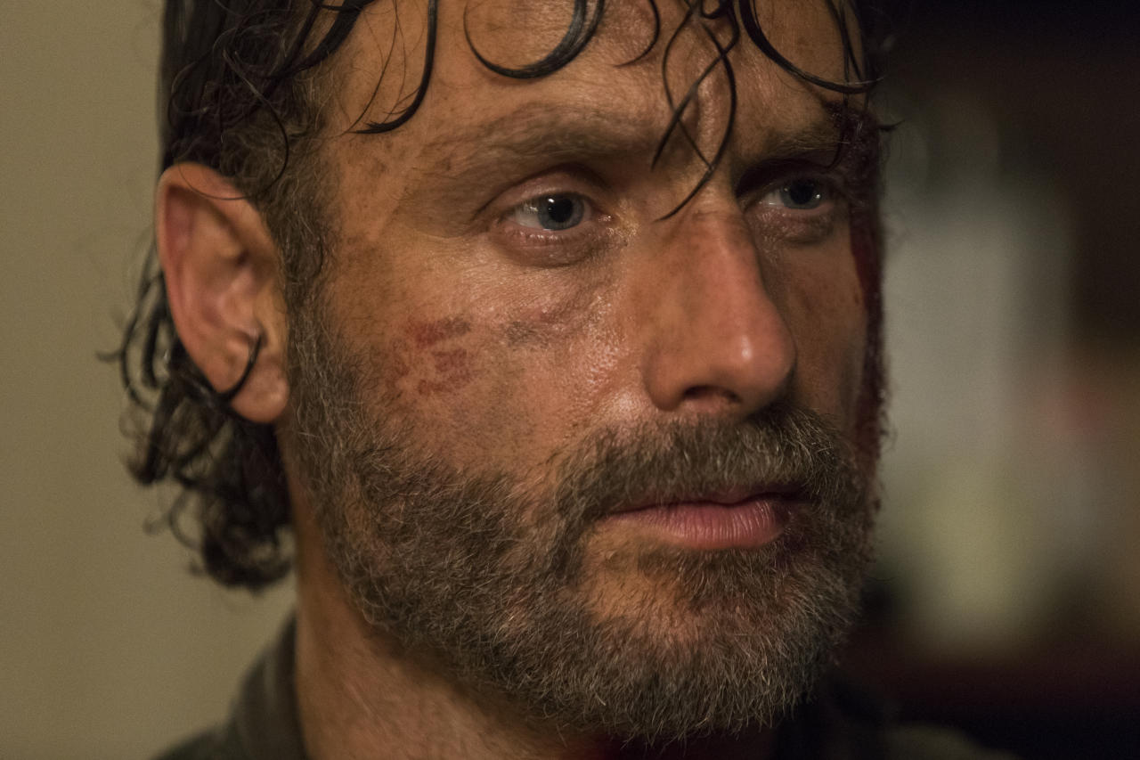 <p>Andrew Lincoln as Rick Grimes in AMC's <i>The Walking Dead</i>.<br />(Photo: Jackson Lee Davis/AMC) </p>
