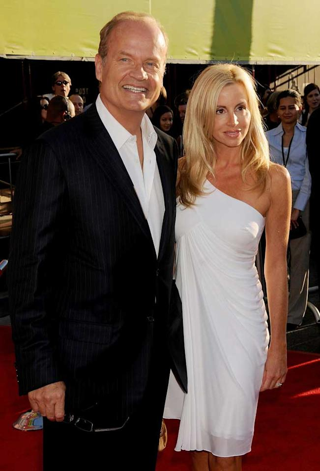 """Kelsey Grammer returned to the red carpet on Thursday for the premiere of """"Swing Vote."""" The comedian suffered a heart attack in May, and credits his wife Camille with helping him recover. Gregg DeGuire/<a href=""""http://www.wireimage.com"""" target=""""new"""">WireImage.com</a> - July 24, 2008"""