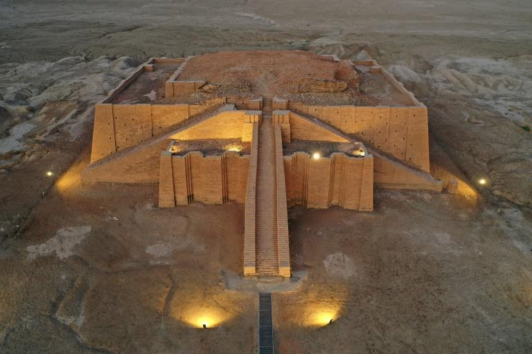 The Great Ziggurat temple in the ancient city of Ur in the southern province of Dhi Qar, around 375 kilometres southeast of the capital Baghdad (AFP/Asaad NIAZI)