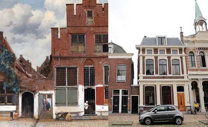 There is still much debate over the exact location of Johannes Vermeer's famous work, <em>The Little Street, c</em>ompleted in 1658. Many art historians, however, have agreed that the painting mimics a street scene in Delft, the Dutch artist's hometown. Much credibility was given to this theory when it was understood that Vermeer's mother and sister lived on the same canal, just opposite of the scene he created.