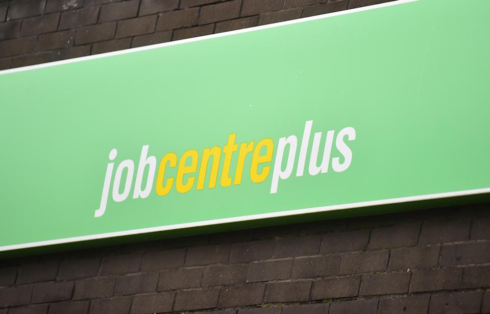 STOKE-ON-TRENT, ENGLAND - DECEMBER 07: A general view outside a Jobcentre Plus employment office on December 07, 2020 in Stoke-on-Trent, Staffordshire, England.   (Photo by Nathan Stirk/Getty Images)