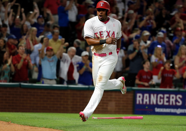 "<a class=""link rapid-noclick-resp"" href=""/mlb/players/8401/"" data-ylk=""slk:Elvis Andrus"">Elvis Andrus</a> is having a season to shout about (AP)"
