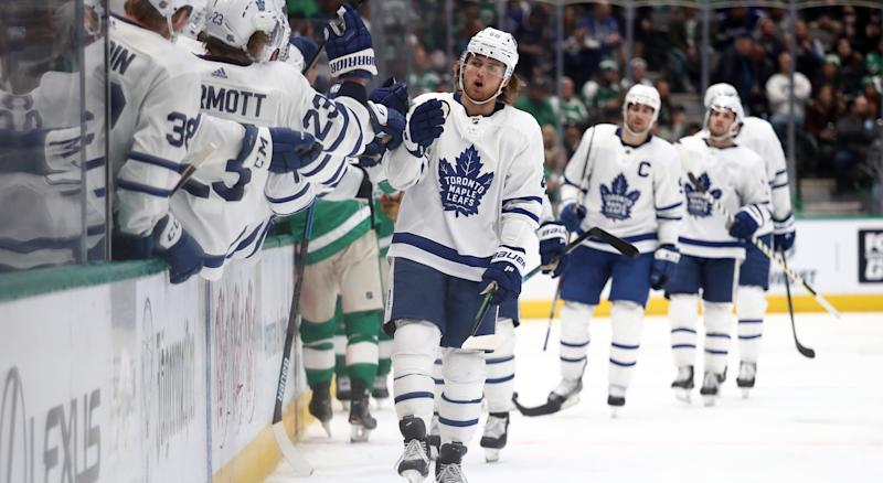 The Toronto Maple Leafs banked another important two points with a win over the Dallas Stars. (Photo by Ronald Martinez/Getty Images)