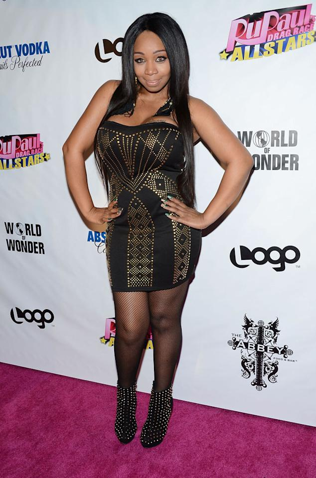 """Tiffany """"New York"""" Pollard arrives at the """"RuPaul's Drag Race: All Stars"""" Premiere Party at The Abbey on October 16, 2012 in West Hollywood, California."""
