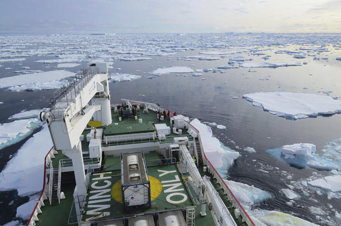 The western Weddell Sea is not an easy place to work because of its abundant sea ice