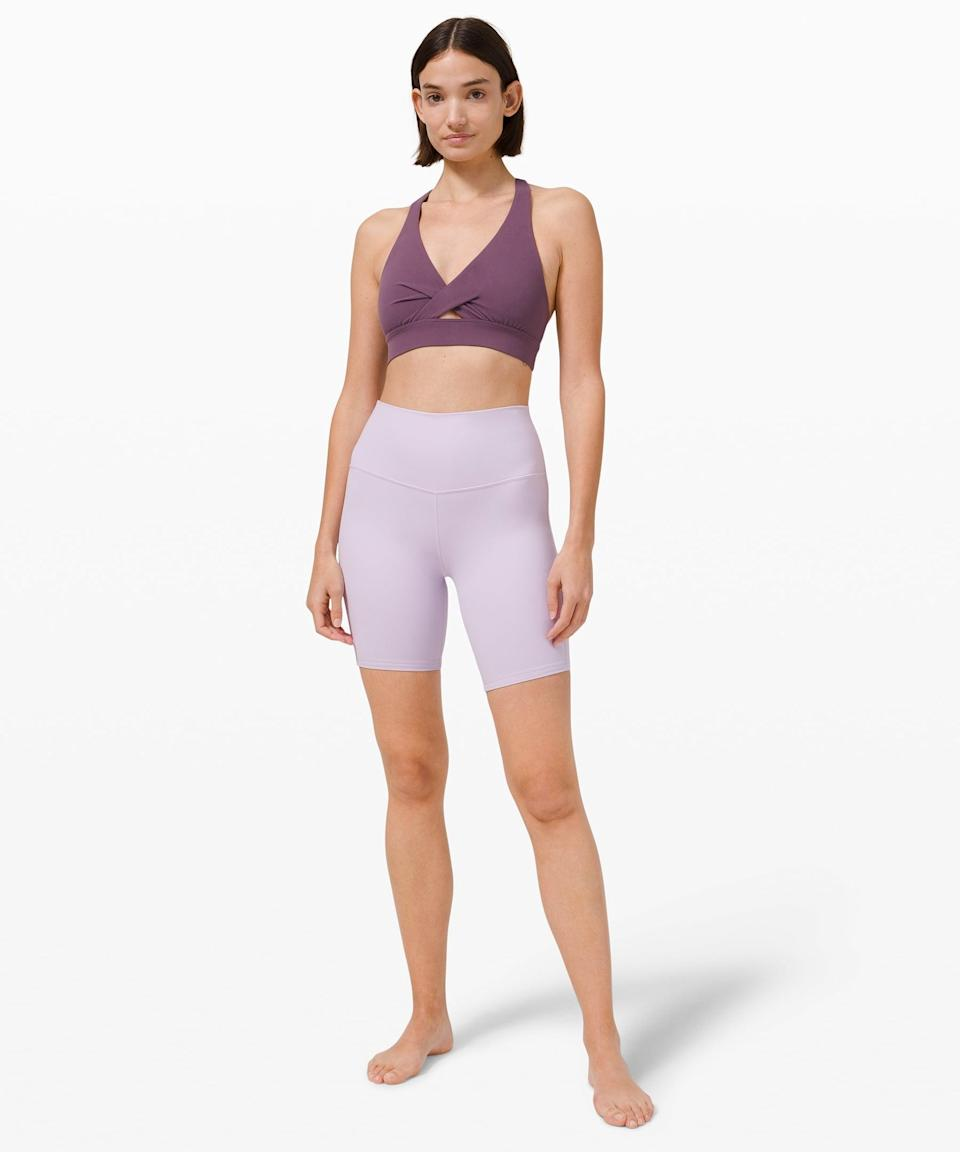 <p>Besides coming in this gorgeous lavender, the <span>Lululemon Align Short</span> ($58) is buttery soft and so comfortable.</p>