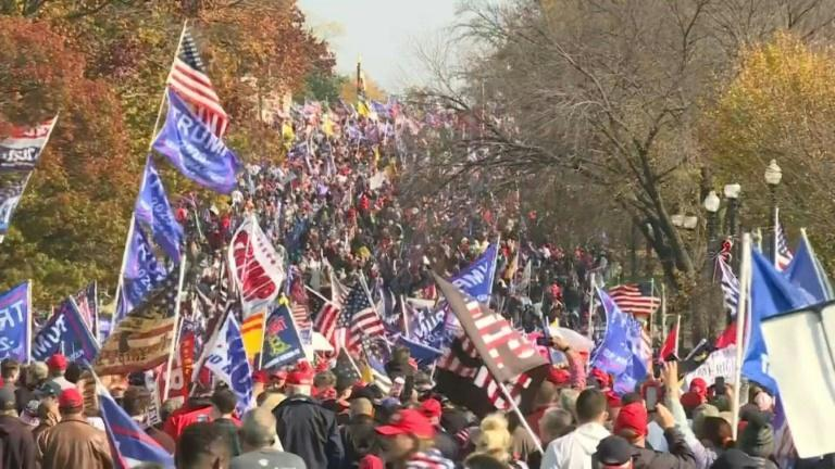 Thousands of Trump loyalists start marching in Washington, DC