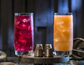 Not a drinker? Docking Bay 7 Food and Cargo has you covered with the Phattro, left, and Moof Juice, both non-alcoholic. (Photo: David Roark/Disney Parks)