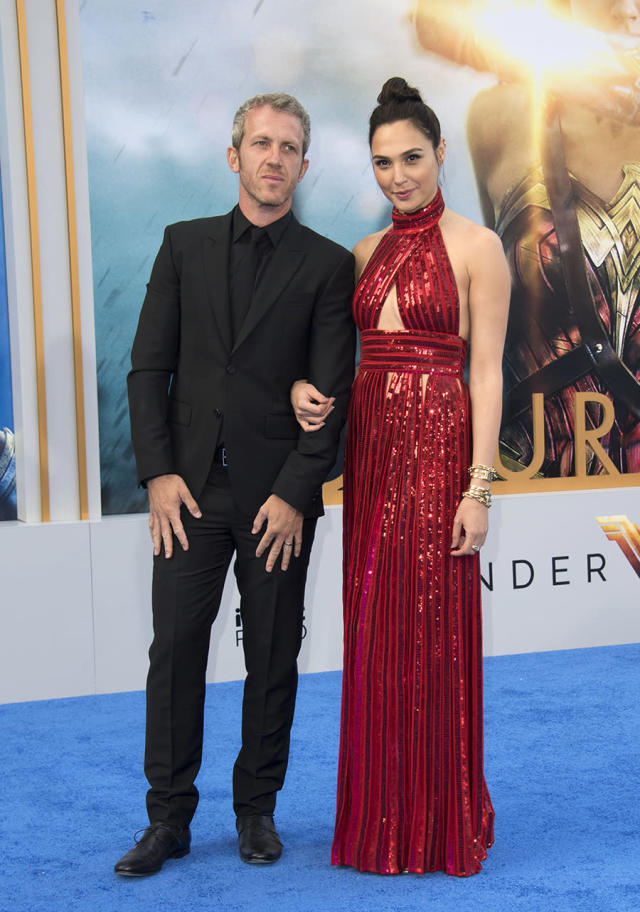 <p>Gal Gadot with husband Yaron Versano. The couple's second daughter was born in March. (Photo: Valerie Macon/AFP/Getty Images) </p>