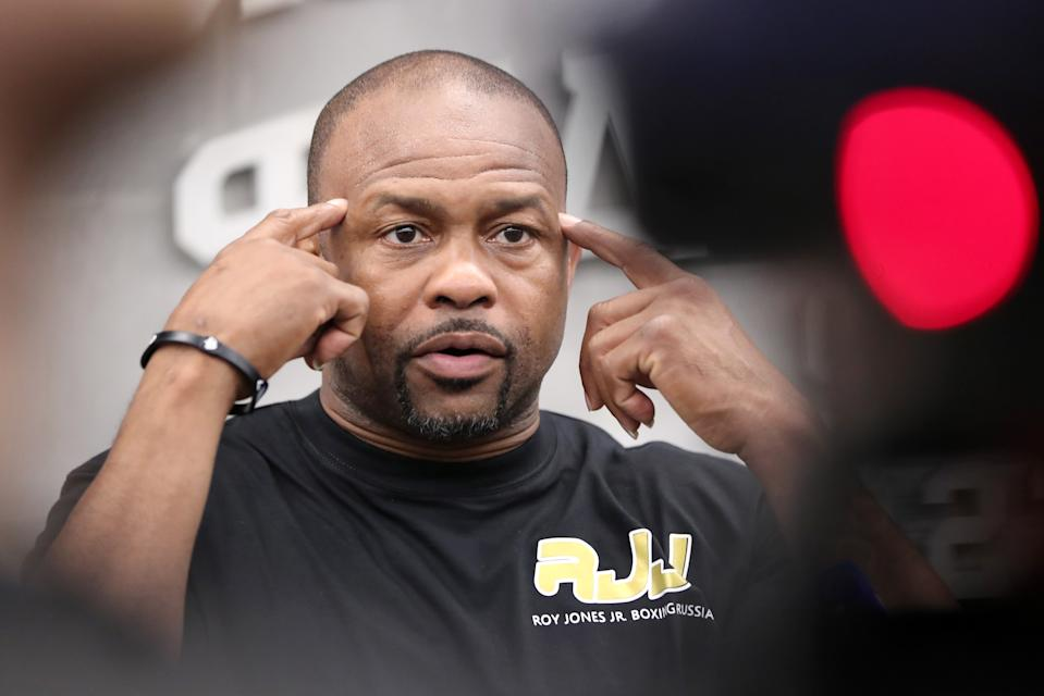 ST PETERSBURG, RUSSIA - MAY 10, 2019: American former professional boxer Roy Jones Jr during a master class for students of the St Petersburg Sport Boxing Federation. Peter Kovalev/TASS (Photo by Peter Kovalev\TASS via Getty Images)