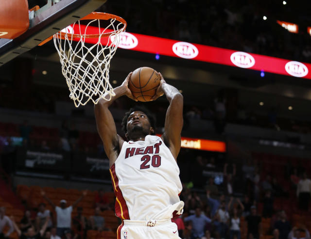Justise Winslow hopes to take a big leap forward for the Heat this season. (AP)