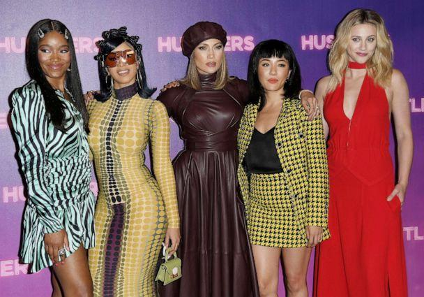 PHOTO: Keke Palmer, Cardi B, Jennifer Lopez, Constance Wu, and Lili Reinhart attend the STX Entertainment's 'Hustlers' photo call at the Four Seasons Los Angeles in Beverly Hills, Aug. 25, 2019. (Sthanlee B. Mirador/Sipa USA via AP, FILE)