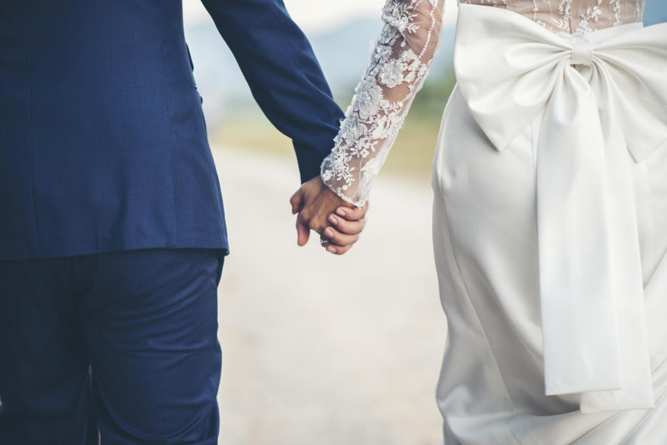 The coronavirus outbreak has left many people unable to go ahead with their weddings. (Getty Images)