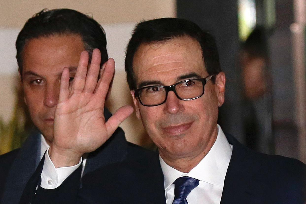 U.S. Treasury Secretary Steven Mnuchin has been named as a defendant in a lawsuit filed by Sears Holdings Corp. over his past role as a Sears board member. (Photo: ASSOCIATED PRESS)